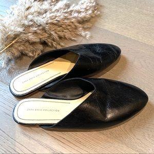 Zara- Leather Mule Slides